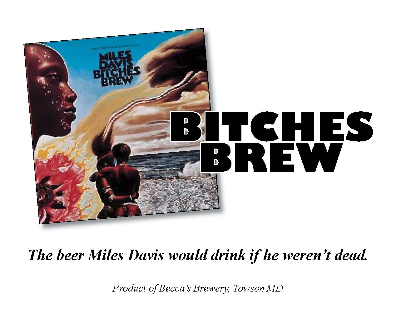 Label for homebrewed beer