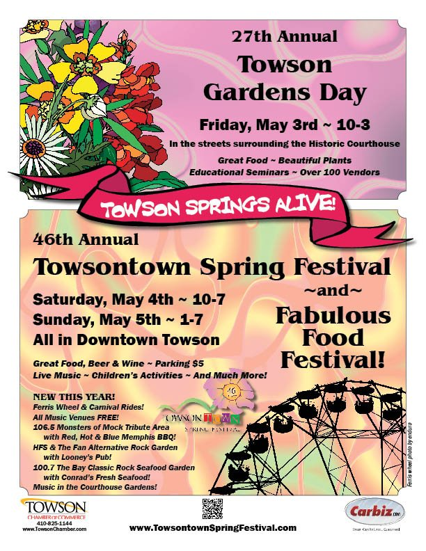 Towsontown Spring Festival 2013 Poster