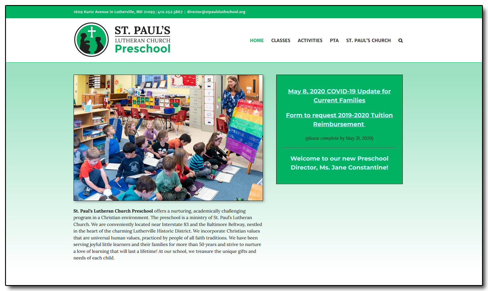 St. Paul's Lutheran Church Preschool