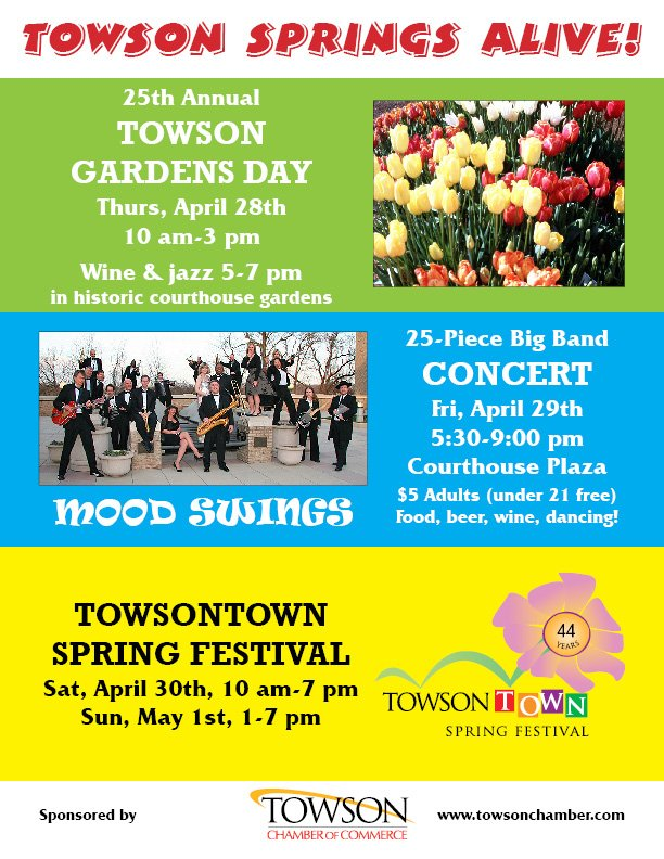 Towsontown Spring Festival 2011 flyer
